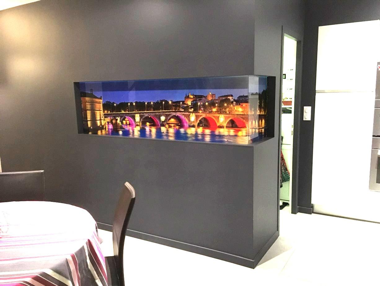 Impression sur Plexy - remplacement aquarium