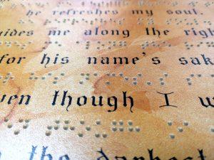 Avec l'impression en relief, possibilité d'imprimer le braille